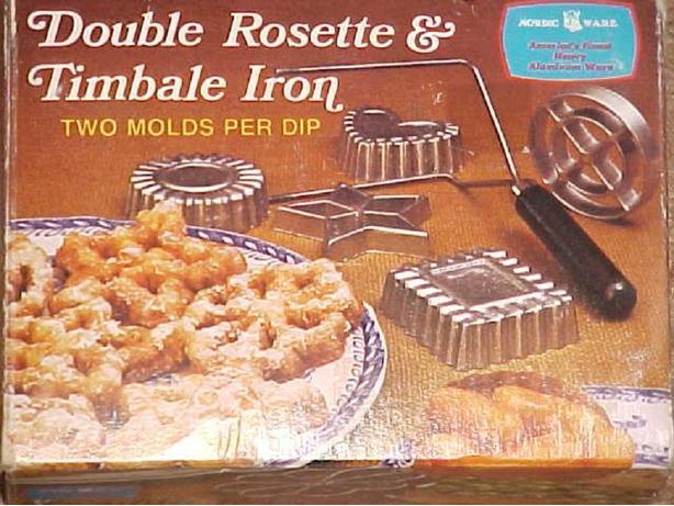 DOUBLE ROSETTE AND TIMBALE IRON
