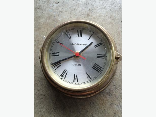 Weathermaster Brass Plated Ships Clock