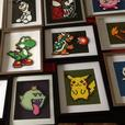 Handmade beaded video game/pop culture inspired art