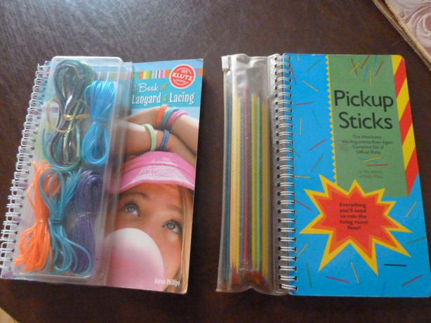 2 KLUTZ activity books and materials