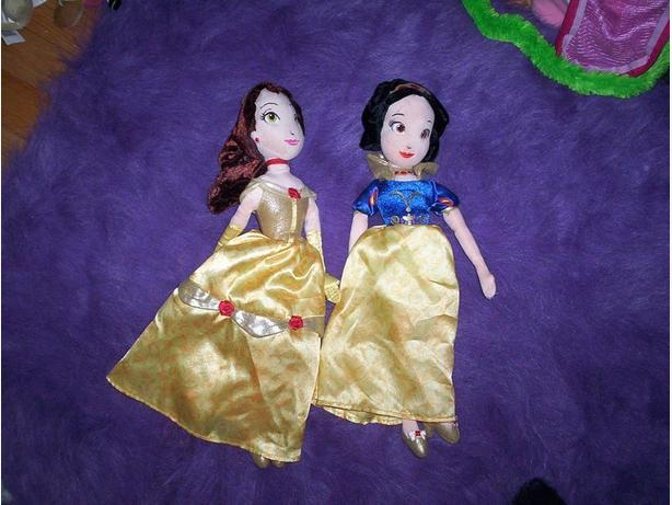 Bell and Snow White Stuffed Dolls