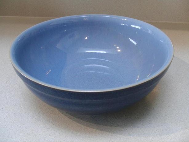 "Denby ""Blue Jetty"" Pattern 9"" Serving Bowl"