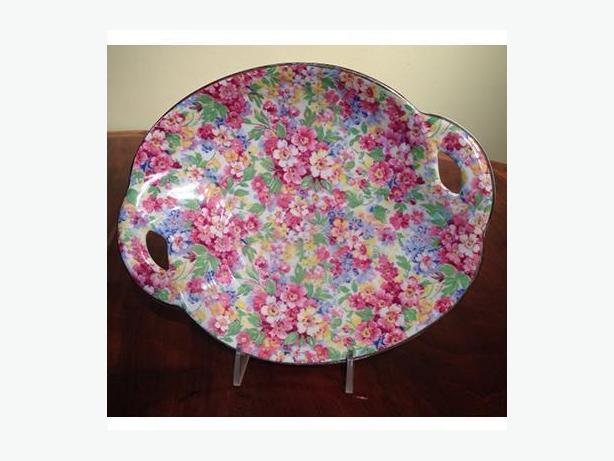 Vintage Art Deco pastry dish by James Kent, 'Apple Blossom' pattern