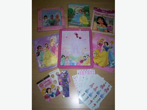 Princess Books, Stickers and Dry Eraser Board