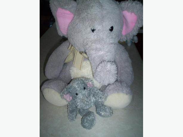 2 Elephant Teddy Bears