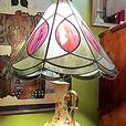 **Handpainted Stained Glass Lamp - MCard,Visa Delivery Avail.