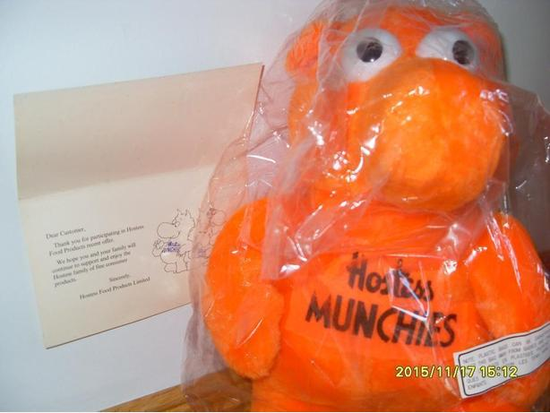 "Plush Toys 14"" - Hostess Munchies Vintage Orange Plush 1980"