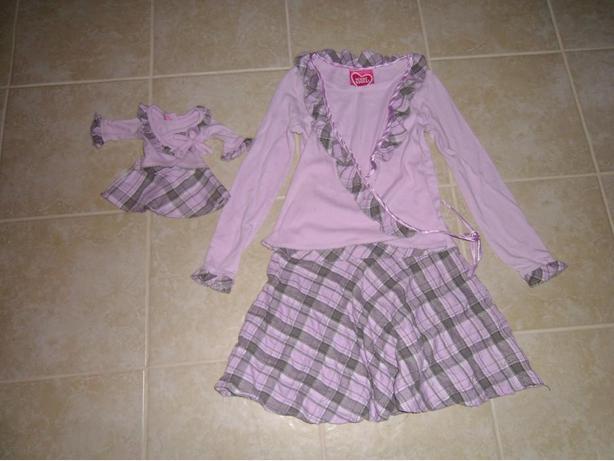 Girls Dress with Doll Dress Size 10/12