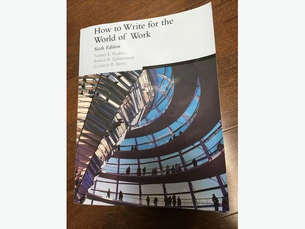 How to Write for the World of Work book