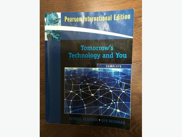 Pearson International Edition Tomorrow's Technology and You.