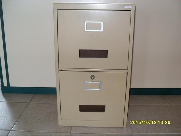 2 Drawers File Cabinet with Lock