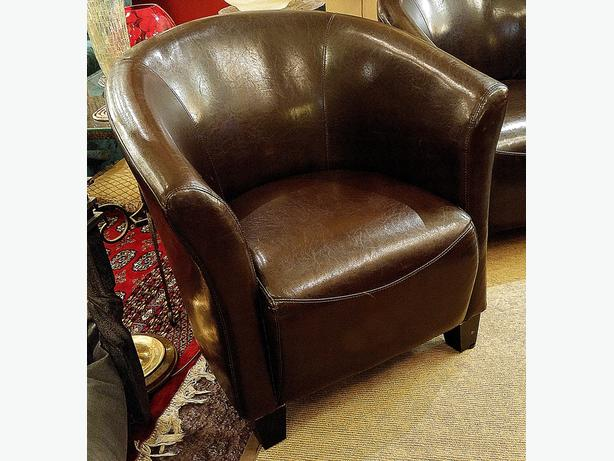 Brown Leatherette Chair(s) (2 Avail.) – Visa, MCard, Delivery
