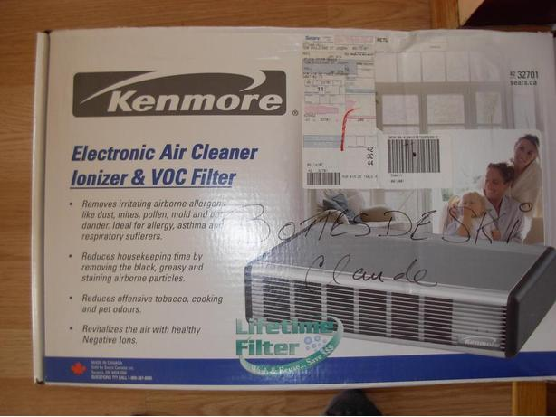 electronic air cleaner,ionizer and voc filter