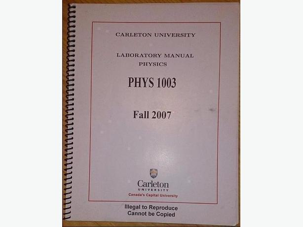 Mechanics/Thermodynamics (PHYS 1003) Lab Manual