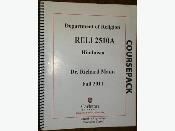 Hinduism (RELI 2510) Course pack