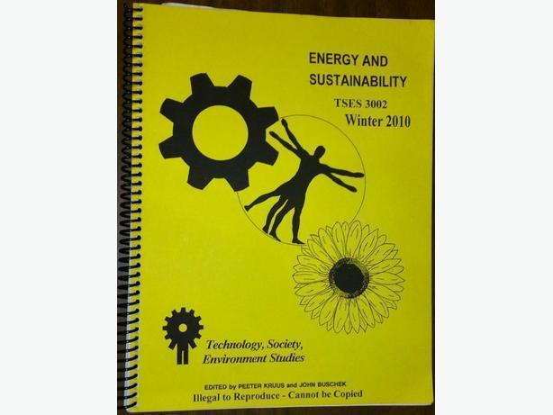 Energy and Sustainability (TSES 3002) Course Pack