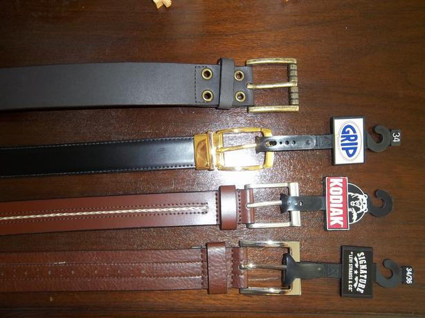 Men's Belts - New. Three available.