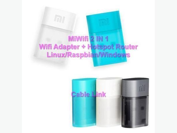 MiWifi 2 in 1 Wifi Adapter + Hotspot Router Linux/Raspbian/Windows
