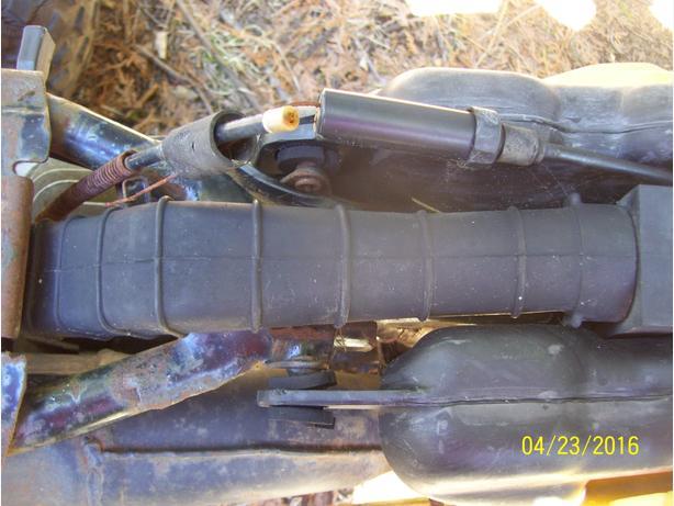Yamaha Tri Moto 175 125 YT175 air box air cleaner duct joint