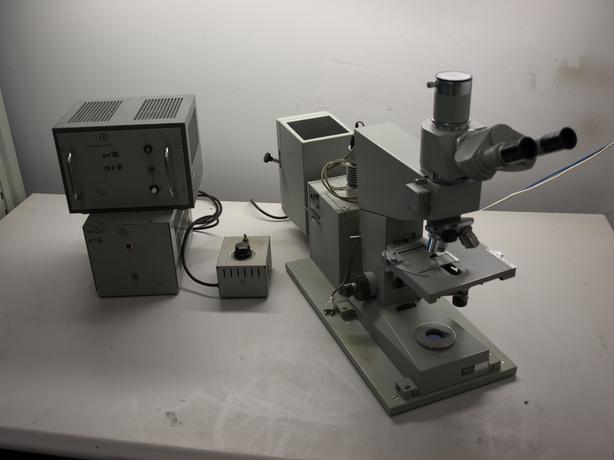 Carl zeiss jena fluoval ii amplival trinocular microscope