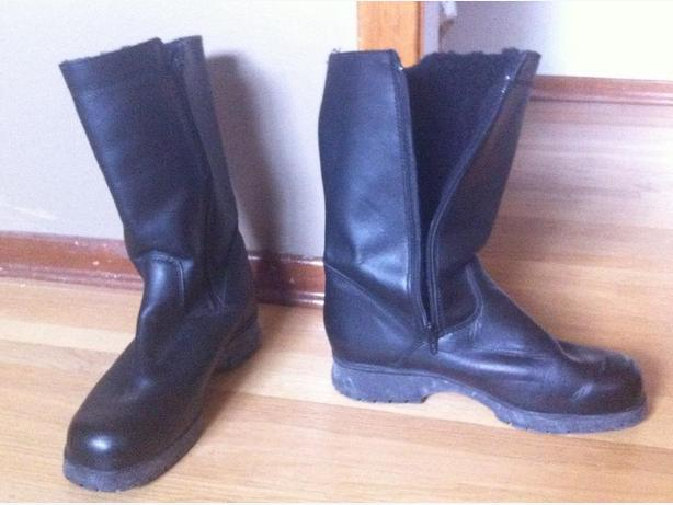 Women's Hillary Leather Winter Boots With Warm Liner, size 10