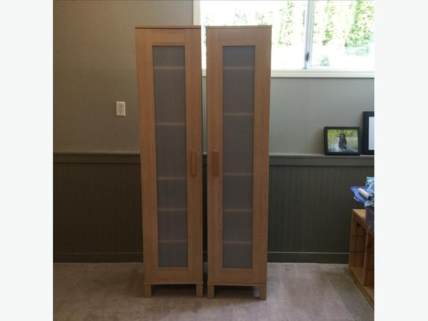 pair of ikea aneboda shelves with doors saanich victoria. Black Bedroom Furniture Sets. Home Design Ideas