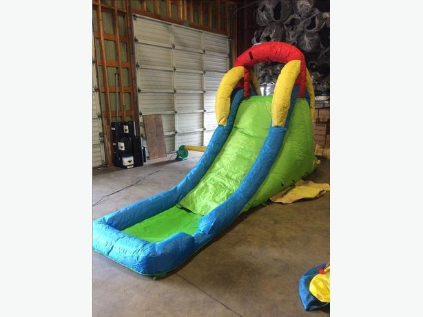blow up carnival water slide