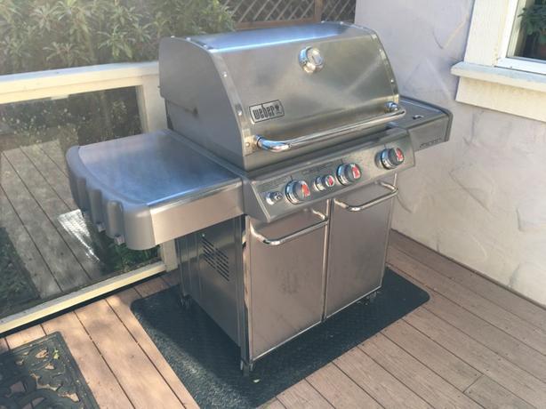 Weber genesis s 330 ng gas bbq stainless steel oak bay victoria - Barbecue weber genesis s330 inox ...