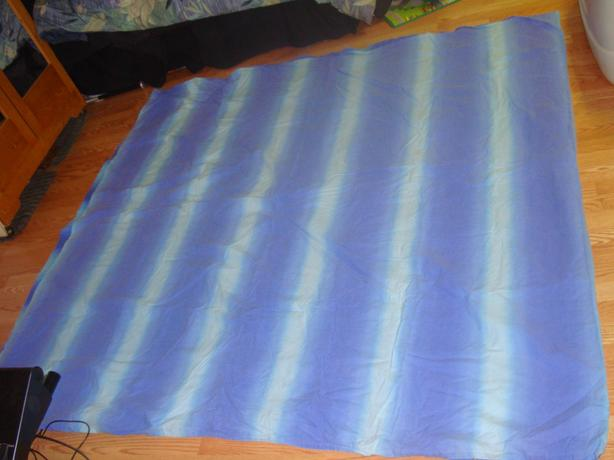 Like New Multi-colored Double-sided Double Blue Duvet Set - $18