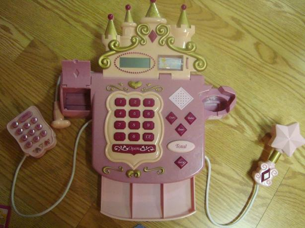 Like New Electronic Princess Cash Register Toy Set - $10