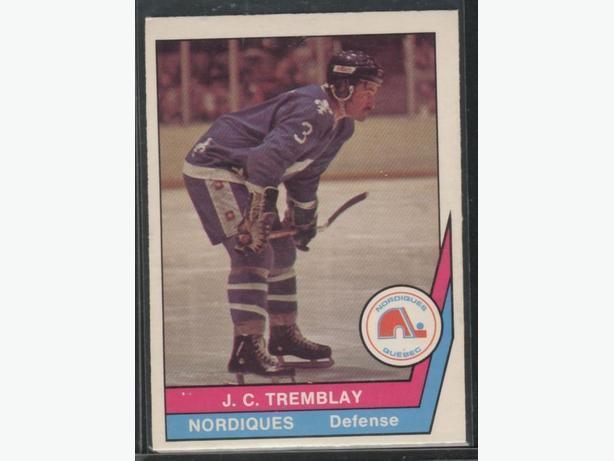1977-78 O Pee Chee WHA J. C. Tremblay Quebec Nordiques