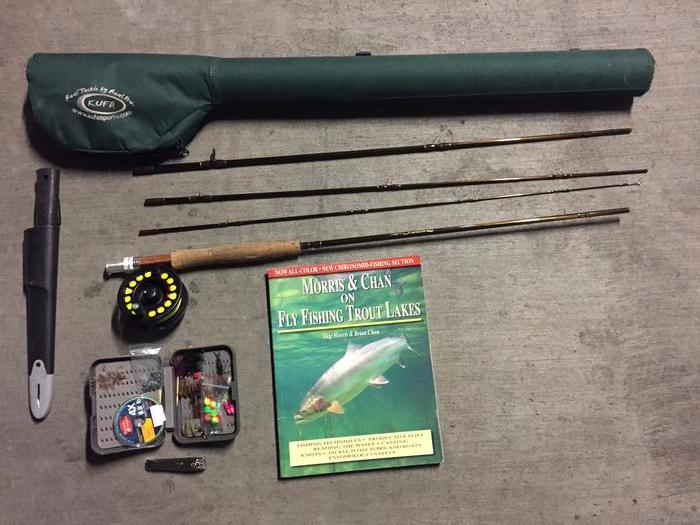 Beginner fly fishing setup victoria city victoria for Fishing pole setup beginners