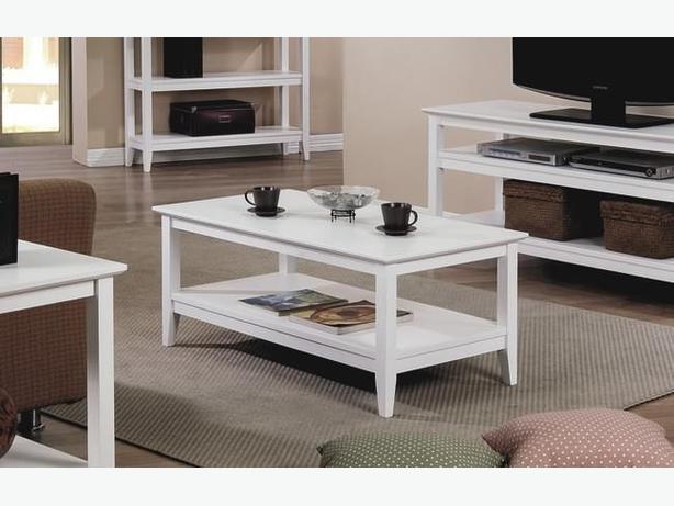 New Quadra White Coffee Table