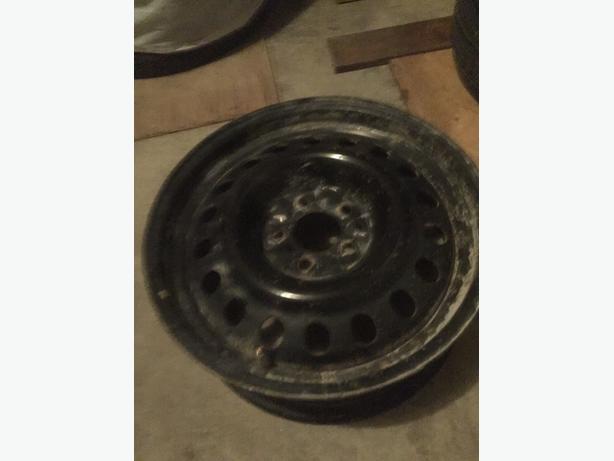 "Mint condition 17"" steel rim"