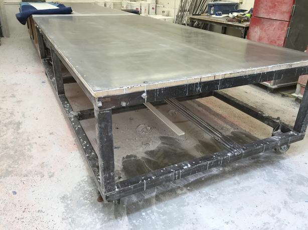 Heavy Duty Steel Fabrication Tables Price Reduced