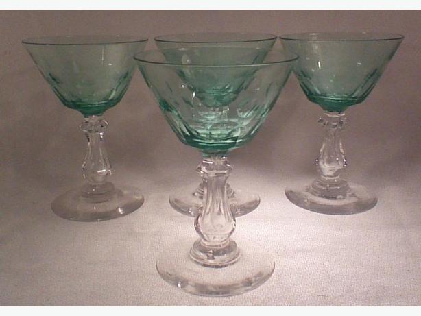 Emerald crystal aperitif glasses