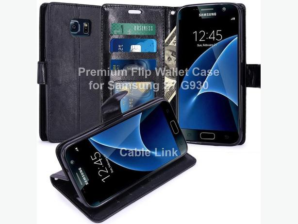 Flip Leather Wallet Stand Case for Samsung Galaxy S7 G930