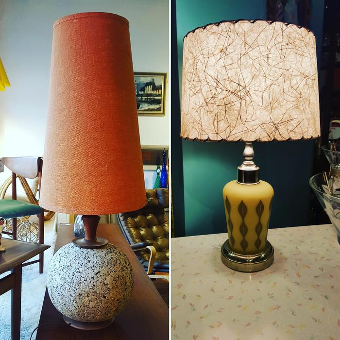 Mid century modern lighting - pole lamps, teak floor lamps and table lamps Victoria City, Victoria