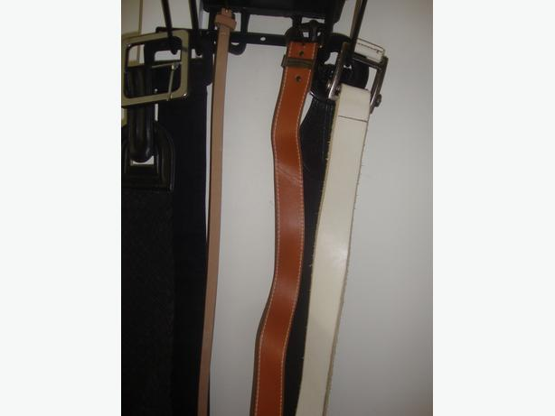 3 groups of leather belts surrey incl white rock