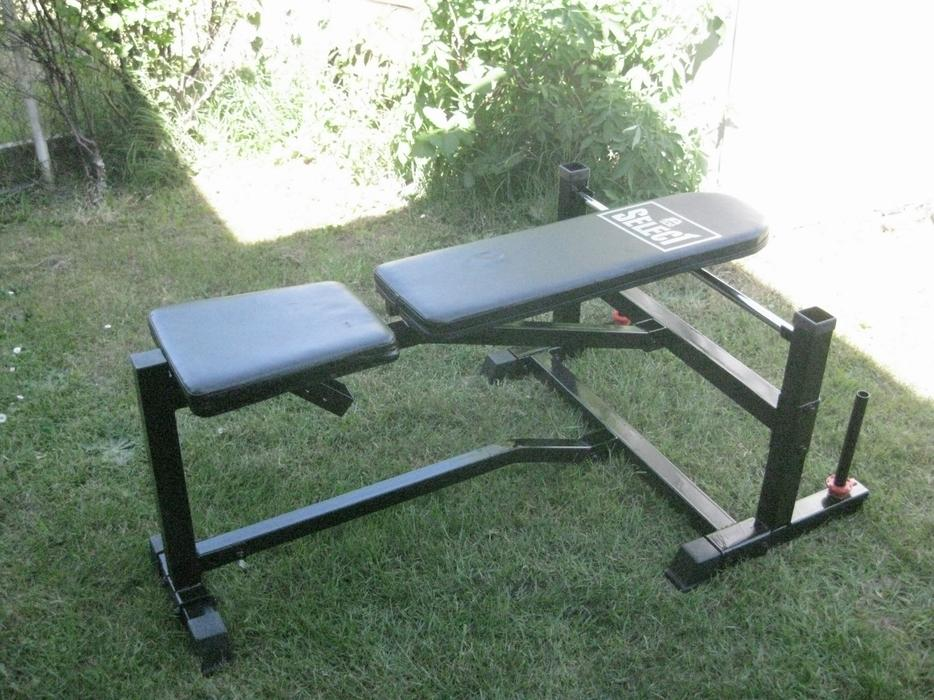 Space saving weight bench images folding
