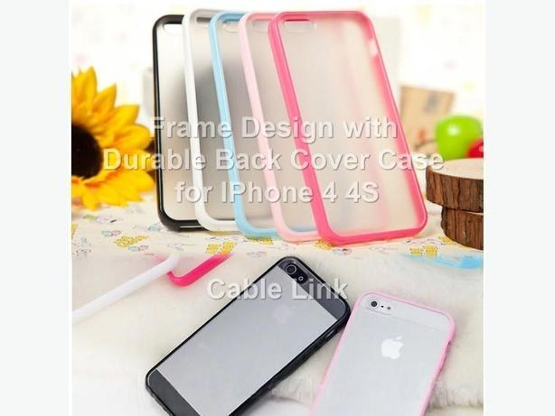 TPU Bumper Frame With Clear Durable Back Case for IPhone 4 4S
