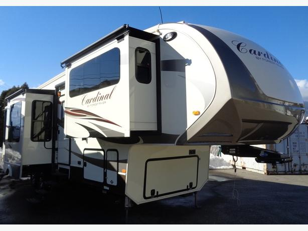 2016 cardinal 3825 fl front living room 5th wheel outside - 2016 luxury front living room 5th wheel ...