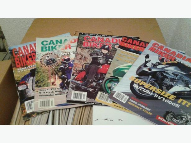98 issues Canadian Biker Magazines & More.