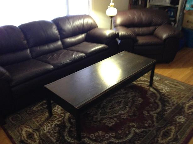 Solid oak coffee table with two matching end tables south regina regina Matching coffee table and end tables