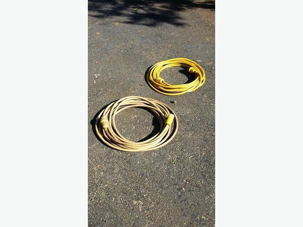 2 - 50 foot, 30 amp marine shore power cables