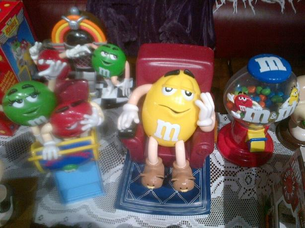 M&M candy dispenser collection