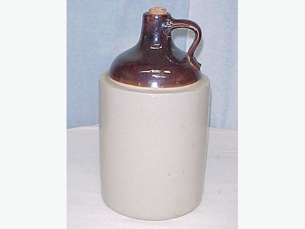 Antique 1 Gallon Stoneware Crockery Jug~Old Farm Primitive~Mint
