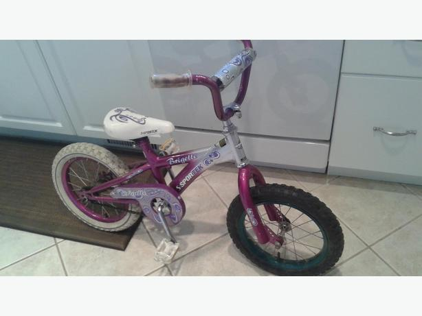 "Girls 14"" tire sporktek bike"