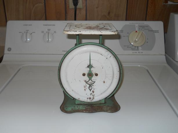 Pelouze Family Scale Deluxe, Original Green Paint