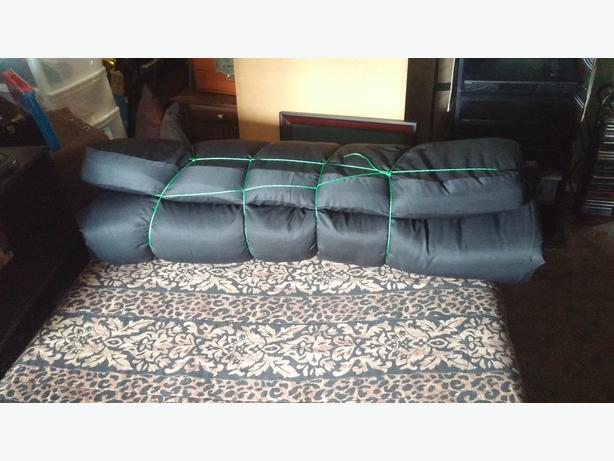Black Futon Mattress Would Make Great Camping Double Bed